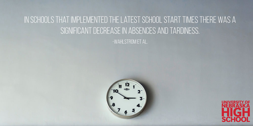Note to High School Educators: Consider Slowing Down that Start Time